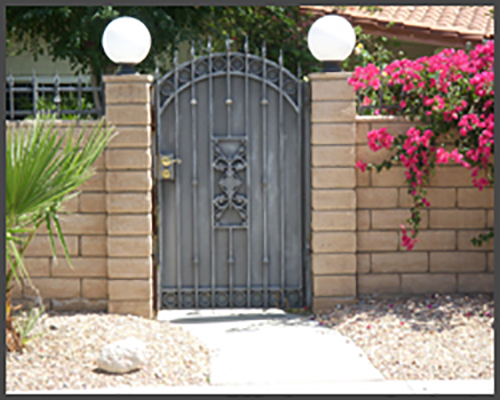 Single Arch Pedestrian Gate
