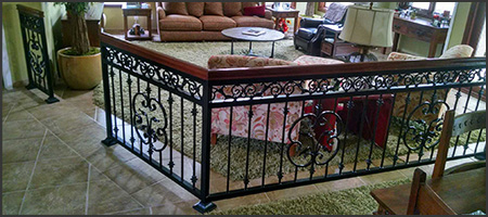 wrought iron interior project