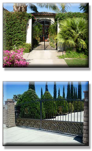 Wrought Iron Drive Through Gate by Precision Garage Doors & Gates, Palm Springs, CA