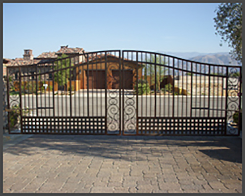 Wrought Iron Drive Through Gate