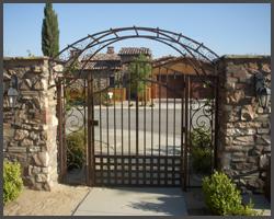 Arch Entry Pedestrian Gate